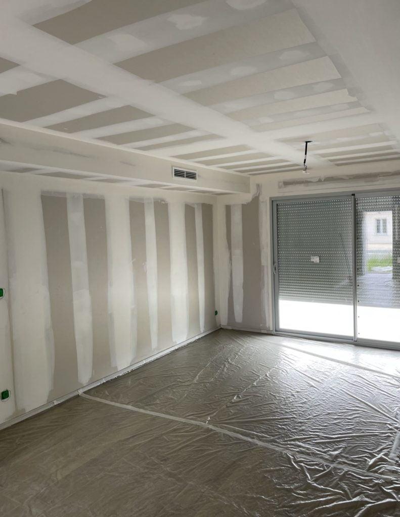Peinture plafond murs avant
